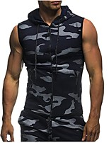 cheap -Men's Basic Street chic Hoodie - Camouflage