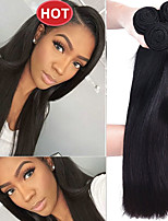 cheap -Indian Hair Straight Natural Color Hair Weaves / Costume Accessories / Bundle Hair 4 Bundles Human Hair Weaves Soft / Easy dressing / Hot Sale Natural Black Human Hair Extensions Women's