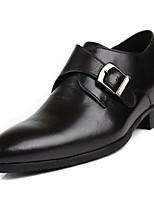 Недорогие -Муж. обувь Кожа / Наппа Leather Весна Удобная обувь Мокасины и Свитер Черный