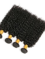 cheap -Indian Hair Curly Natural Color Hair Weaves / Human Hair Extensions Human Hair Weaves Extention / Hot Sale Natural Black All