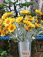 Недорогие -Искусственные Цветы 1 Филиал Деревня Подсолнухи Букеты на пол