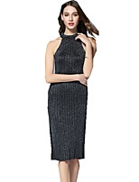 cheap -SHE IN SUN Women's Chinoiserie Sweater Dress - Solid Colored Split