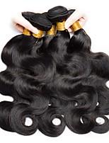 cheap -Indian Hair Wavy Unprocessed Human Hair Natural Color Hair Weaves / Human Hair Extensions 6 Bundles Human Hair Weaves New Arrival / For Black Women Natural Black Human Hair Extensions Women's