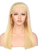 cheap -Remy Human Hair Wig Malaysian Hair Straight 130% Density For Black Women African American Wig Natural Hairline Blonde Long Women's Human