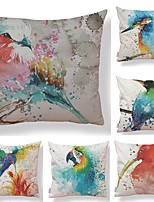 cheap -6 pcs Textile / Cotton / Linen Pillow case, Art Deco / Special Design / Printing Square Shaped / European Style