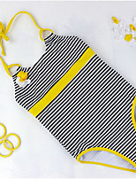 cheap -Toddler Girls' Striped Cotton Swimwear