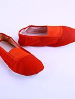 abordables -Femme Chaussures de Ballet Toile Plate Talon Cubain Chaussures de danse Blanc / Noir / Rouge / Utilisation / Entraînement