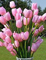 Недорогие -Искусственные Цветы 1 Филиал Вечеринка Тюльпаны Букеты на пол