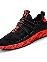 cheap -Men's Shoes Net / Tulle Summer Comfort / Light Soles Sneakers Black / White / Black / Red