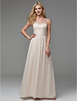cheap -A-Line Jewel Neck Floor Length Chiffon Prom / Formal Evening Dress with Beading by TS Couture®
