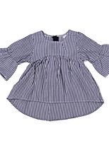 cheap -Baby Girls' Active / Basic Striped Short Sleeve Long Dress / Cotton / Toddler
