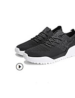 cheap -Men's Shoes Knit Spring Comfort Loafers & Slip-Ons Running Shoes Black / Gray / Dark Grey