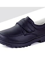 abordables -Garçon Chaussures Cuir Hiver Confort Oxfords pour De plein air Noir