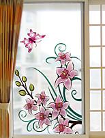 cheap -Window Film & Stickers Decoration Floral Floral PVC Window Sticker Matte Water-Repellent