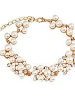 cheap -Women's Chain Bracelet / Bracelet - Imitation Pearl, Gold Plated Bracelet White For Daily / Evening Party