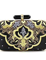 cheap -Women's Bags Terylene Evening Bag Embroidery for Wedding / Event / Party Black
