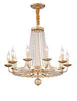 cheap -QIHengZhaoMing 10-Light Candle-style Chandelier Ambient Light 110-120V / 220-240V, Warm White, Bulb Included / 15-20㎡