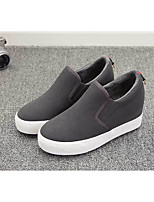 cheap -Women's Shoes Fur / Cotton Winter Snow Boots Boots Wedge Heel Round Toe Booties / Ankle Boots Black / Gray