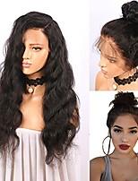 Недорогие -Remy Парик Бразильские волосы Волнистый 130% плотность С детскими волосами С отбеленными узлами Необработанные Природные волосы новый