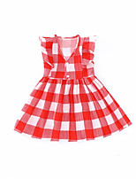 cheap -Kids Girls' Geometric Sleeveless Dress