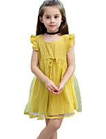 cheap -Kids / Toddler Girls' Solid Colored / Jacquard Sleeveless Dress