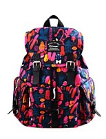 cheap -Women's Bags Cotton / Polyester School Bag Buttons / Pattern / Print Blue / Red