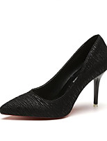 cheap -Women's Shoes Synthetic Microfiber PU Fall Basic Pump Heels Stiletto Heel Pointed Toe Black / Gray