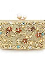 cheap -Women's Bags Terylene Evening Bag Buttons for Wedding / Event / Party Gold
