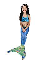 economico -La sirenetta Costumi da bagno / Bikini / Costume Per donna Halloween / Carnevale Feste / vacanze Costumi Halloween Blu inchiostro Vintage