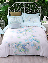 cheap -Duvet Cover Sets Floral 100% Cotton Polyster Printed 4 Piece