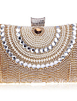 cheap -Women's Bags Polyester / Rhinestones Evening Bag Beading / Rivet / Pearls for Wedding / Event / Party Black / Silver / Red