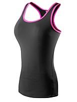abordables -Femme Débardeur de Course - Noir / Rouge, noir / vert, Noir / bleu. Des sports Spandex Débardeur Sans Manches Tenues de Sport Léger,