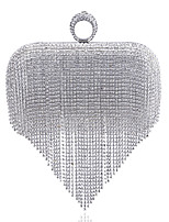 cheap -Women's Bags Rhinestones Evening Bag Beading / Crystals for Wedding / Event / Party Rainbow / White yellow / Black / White