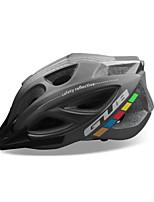 abordables -GUB® Adultes Casque de vélo 18 Aération CE / CPSC Résistant aux impacts, Réglable, Visière amovible EPS, PC Des sports Cyclisme / Vélo - Noir / Rouge / gris foncé