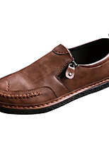 Недорогие -Муж. обувь Полиуретан Лето Мокасины Удобная обувь Мокасины и Свитер для на открытом воздухе Черный Серый Коричневый