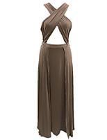 abordables -Chemises & Blouses Vêtement de nuit Femme - Ouvert Croisé Fendu, Couleur Pleine