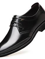 Недорогие -Муж. обувь Наппа Leather / Кожа Весна Удобная обувь Туфли на шнуровке Черный / Коричневый