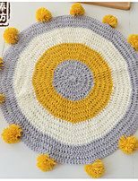 cheap -Area Rugs Casual Poly / Cotton, Circular Superior Quality Rug