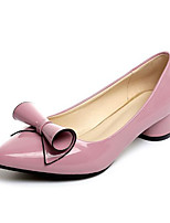 cheap -Women's Shoes PU(Polyurethane) Spring & Summer Comfort Heels Chunky Heel Pointed Toe Light Purple / Red / Pink