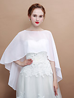 cheap -Sleeveless Chiffon Wedding / Birthday Women's Wrap Capelets