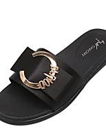 preiswerte -Damen Schuhe PU Sommer Komfort Slippers & Flip-Flops Flacher Absatz für Normal Schwarz Grün
