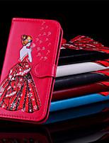 Недорогие -Кейс для Назначение Apple iPhone X / iPhone 8 Кошелек / Бумажник для карт / Флип Чехол Соблазнительная девушка Твердый Кожа PU для iPhone X / iPhone 8 Pluss / iPhone 8