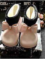 Недорогие -Девочки Обувь Дерматин Зима Резиновые сапоги Ботинки для Черный / Красный / Розовый