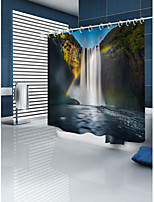 cheap -Shower Curtains & Hooks Country Polyester 3D Machine Made Waterproof Bathroom