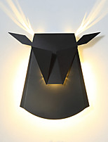 cheap -CONTRACTED LED Matte / Kids LED / Modern / Contemporary Wall Lamps & Sconces Living Room / Bedroom / Study Room / Office Metal Wall Light