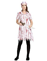 cheap -Angel / Devil / Fallen Angel Outfits Women's Halloween / Carnival / Day of the Dead Festival / Holiday Halloween Costumes White Striped /