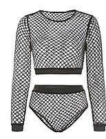 cheap -Women's Suits Nightwear - Mesh, Solid Colored