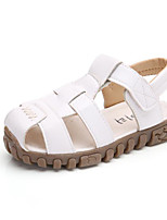 cheap -Girls' Shoes PU Summer Comfort Sandals for White / Black / Yellow
