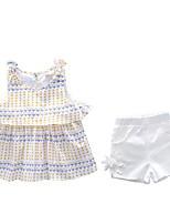 preiswerte -Kinder Mädchen Punkt Ärmellos Kleidungs Set
