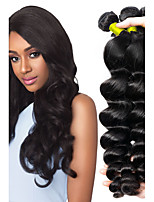 cheap -Malaysian Hair / Loose Wave Wavy Natural Color Hair Weaves / Extension / Human Hair Extensions 4 Bundles Human Hair Weaves Soft / New Arrival / Hot Sale Natural Black Human Hair Extensions Women's